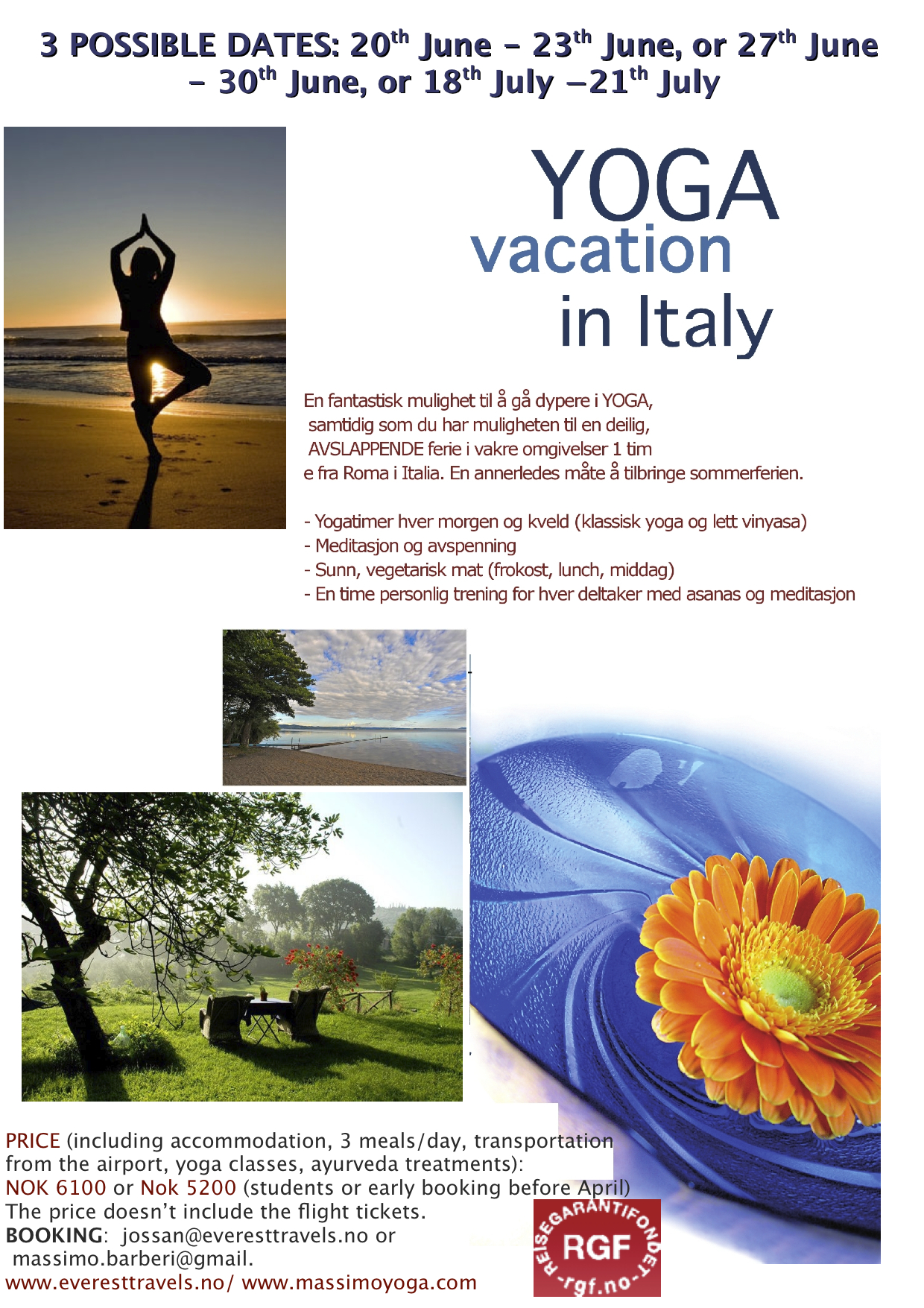 Yoga Vacation Casa Angelica Everest 2014 | MASSIMO YOGA