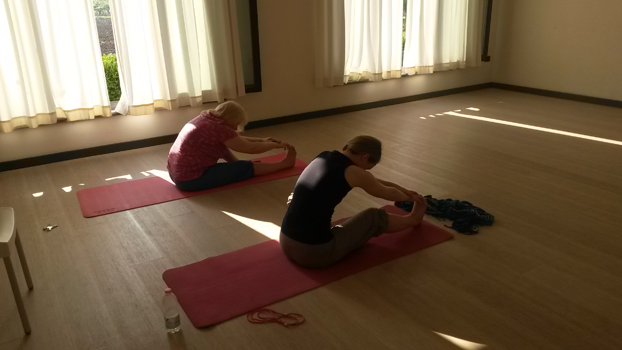 The yoga rooms